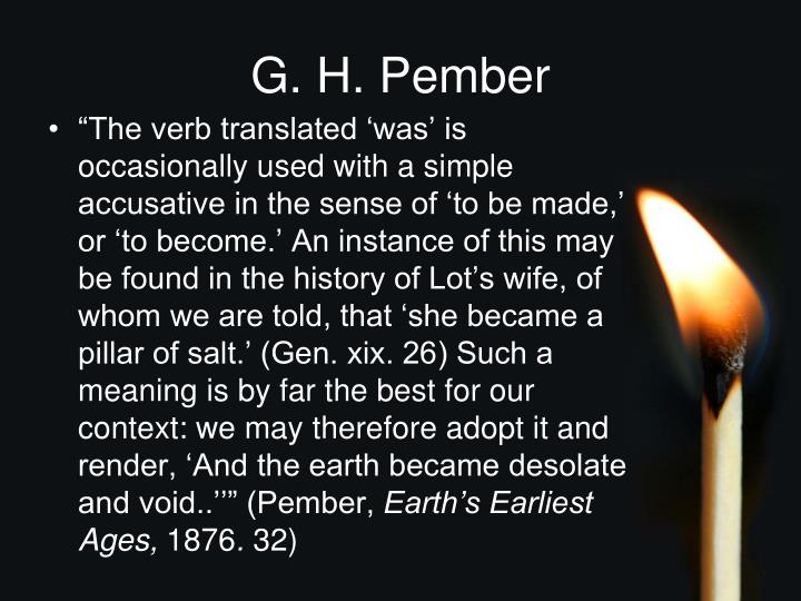 G. H. Pember