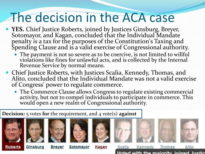 The decision in the ACA case