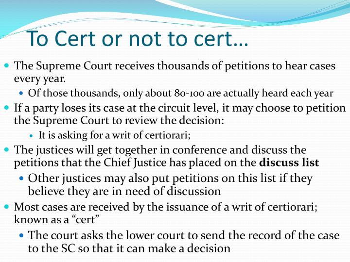 To Cert or not to cert…