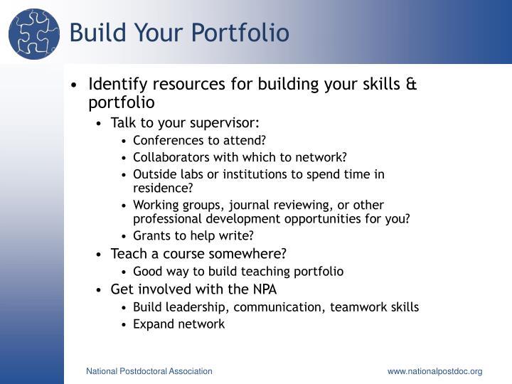 Build Your Portfolio
