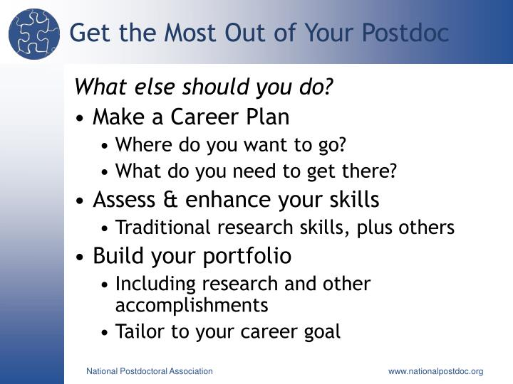 Get the Most Out of Your Postdoc