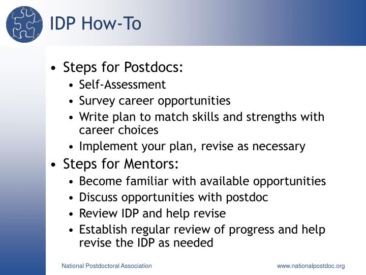 IDP How-To