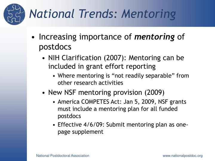 National Trends: Mentoring