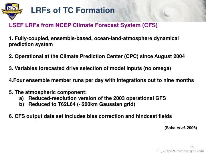 LRFs of TC Formation
