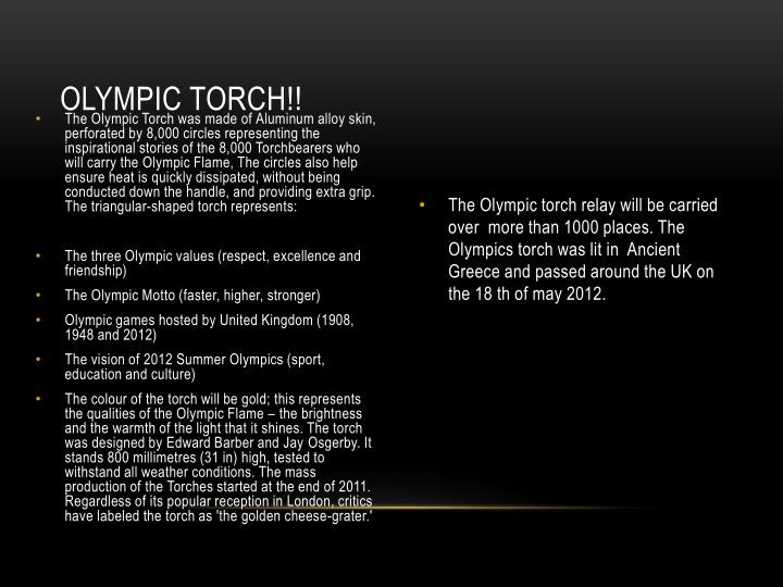 Olympic torch!!