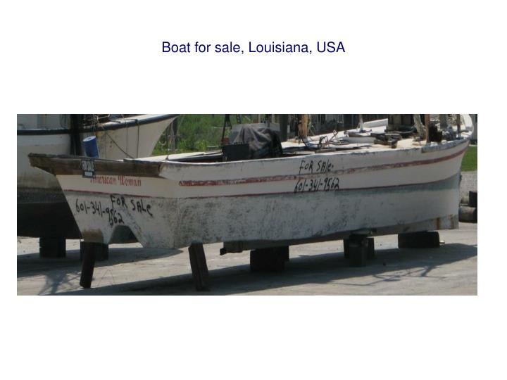 Boat for sale, Louisiana, USA