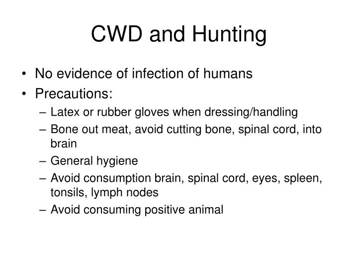 CWD and Hunting
