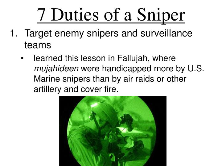 7 Duties of a Sniper