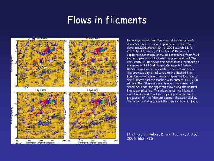 Flows in filaments