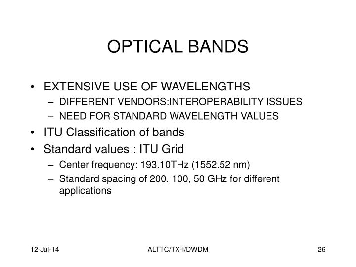 OPTICAL BANDS
