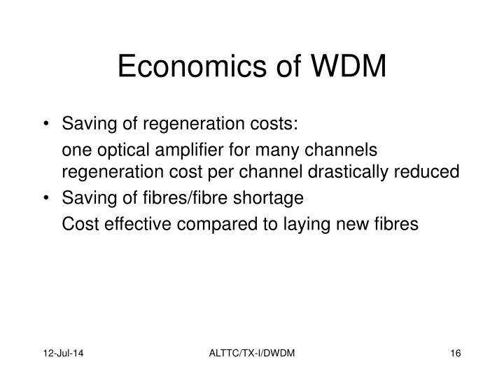 Economics of WDM