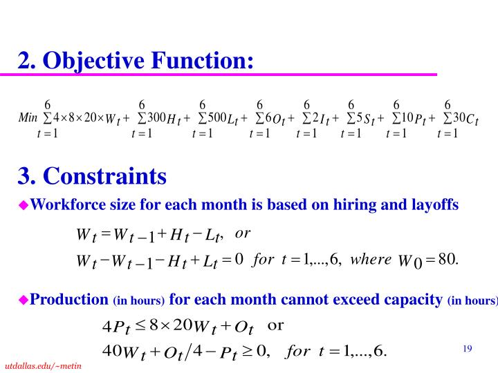2. Objective Function: