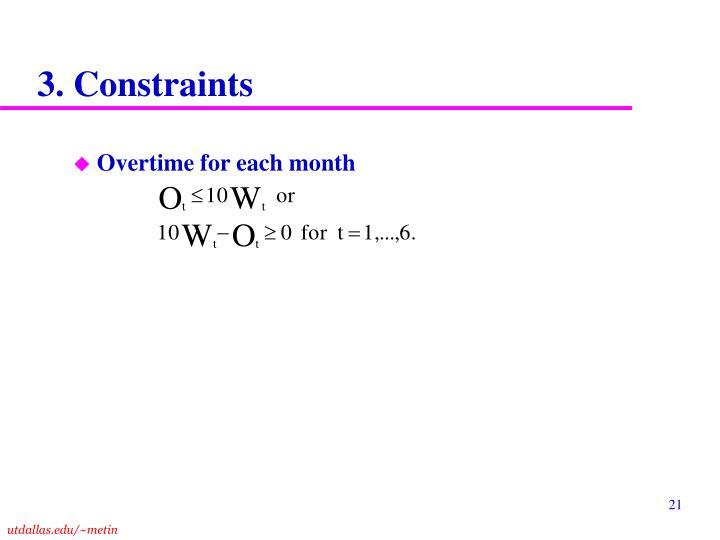 3. Constraints