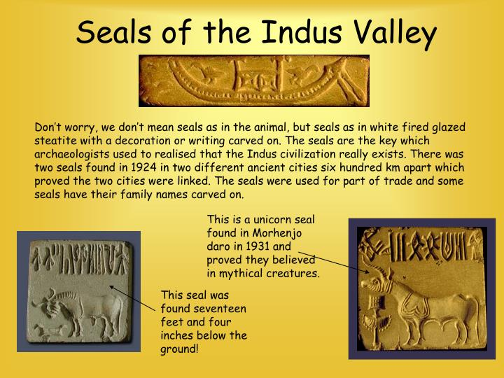 Seals of the Indus Valley