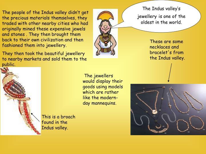 The Indus valley's jewellery