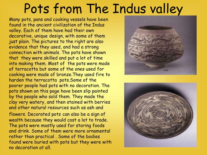 Pots from The Indus valley