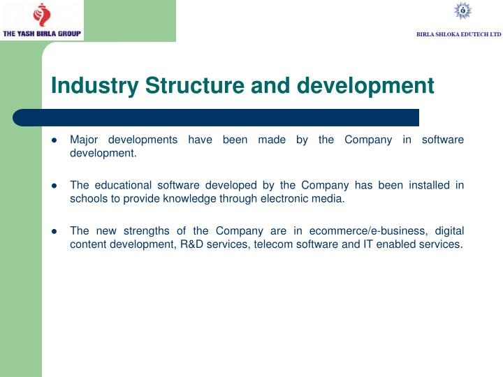 Industry structure and development