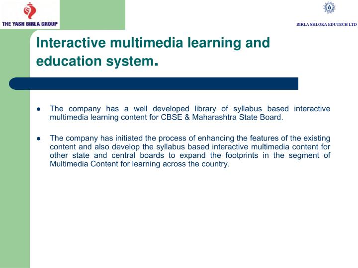 Interactive multimedia learning and education system