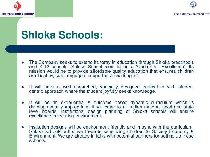 Shloka Schools: