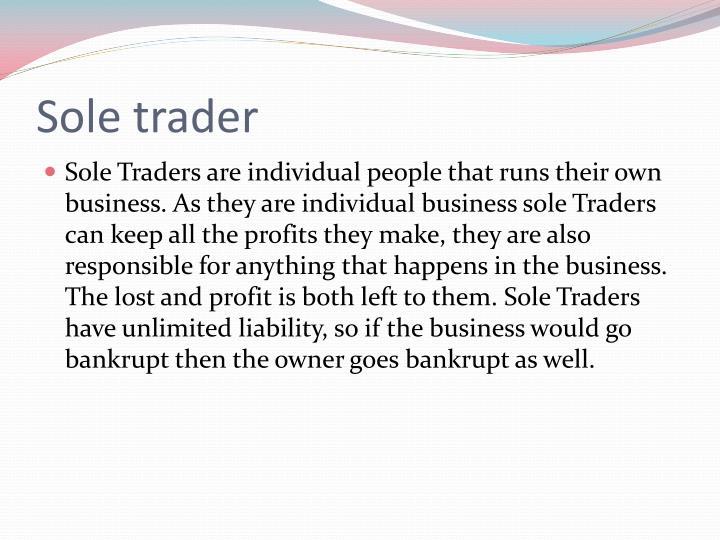 Sole trader