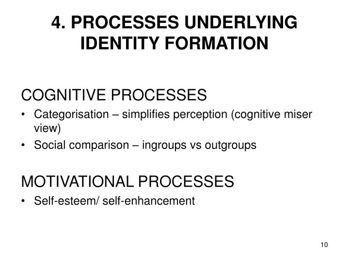 4. PROCESSES UNDERLYING IDENTITY FORMATION