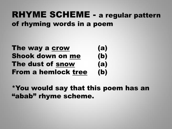 RHYME SCHEME -