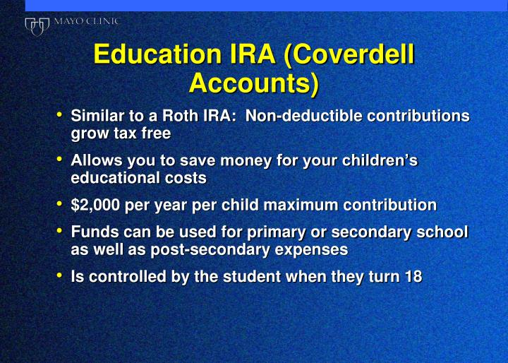 Education IRA (Coverdell Accounts)