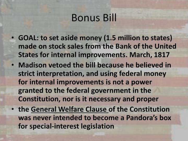 Bonus Bill