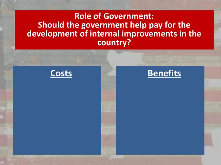 Role of Government: