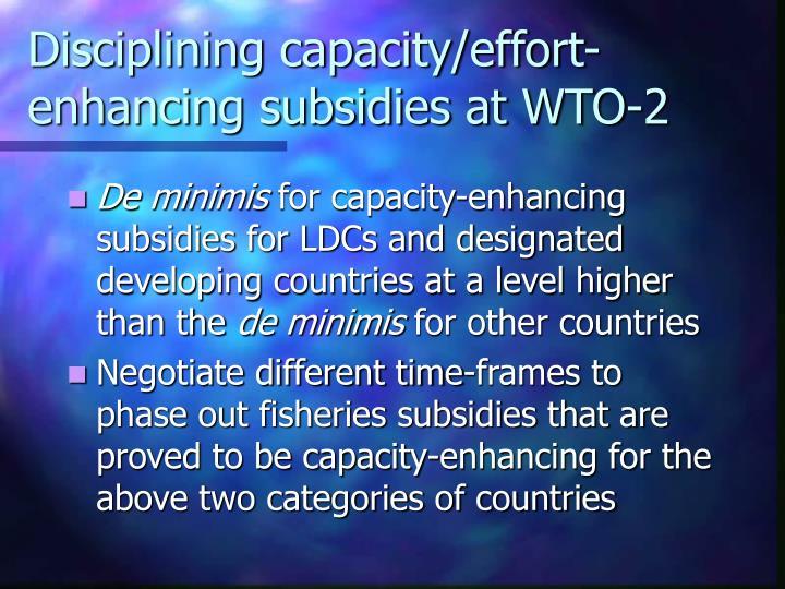 Disciplining capacity/effort-enhancing subsidies at WTO-2