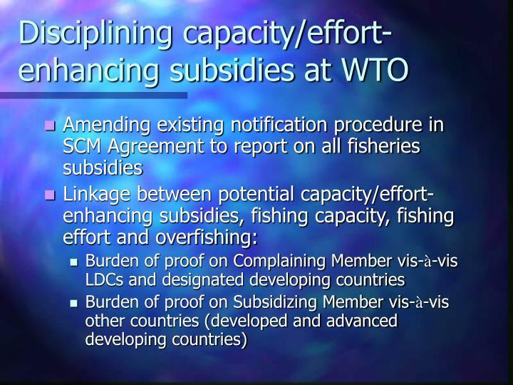 Disciplining capacity/effort-enhancing subsidies at WTO