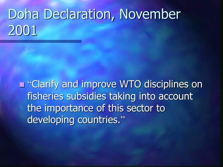 Doha Declaration, November 2001