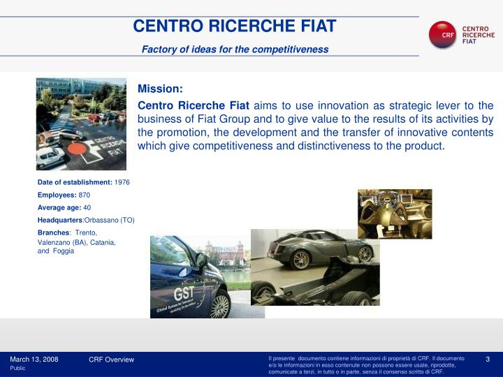 CENTRO RICERCHE FIAT