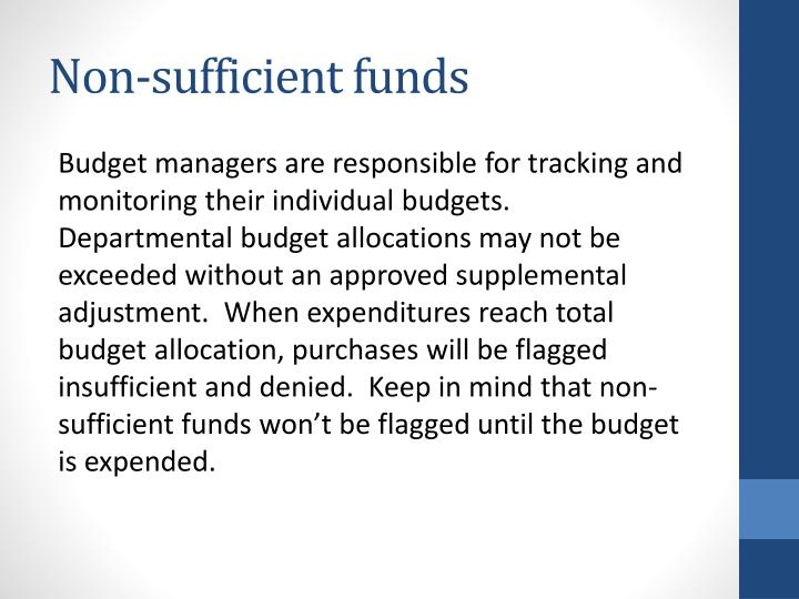Non-sufficient funds