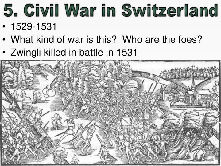 5. Civil War in Switzerland