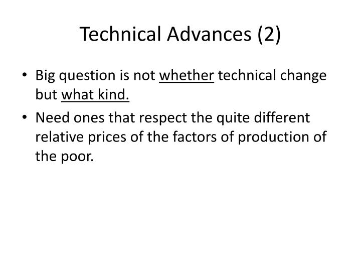 Technical Advances (2)
