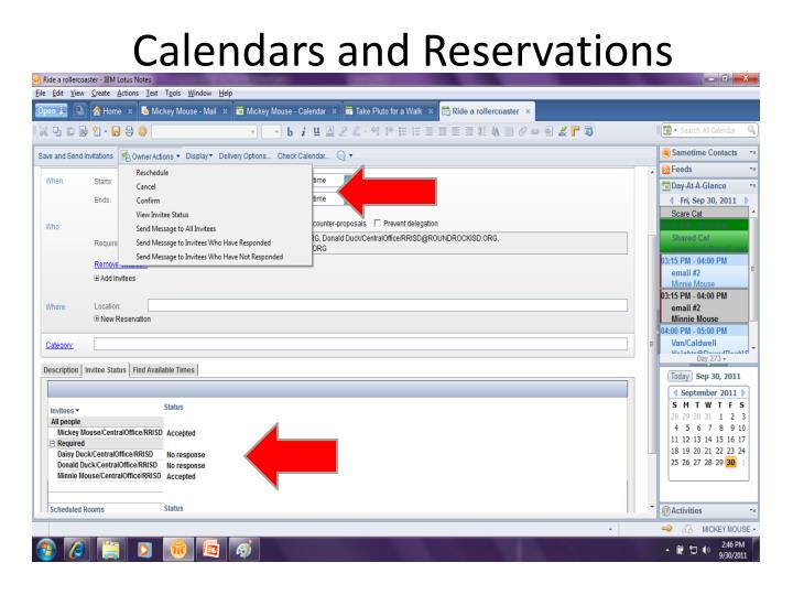Calendars and Reservations