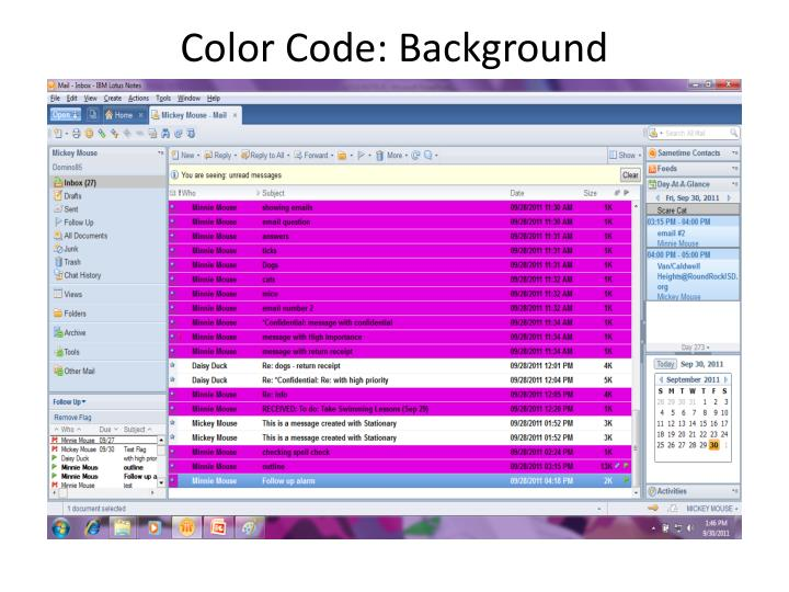 Color Code: Background