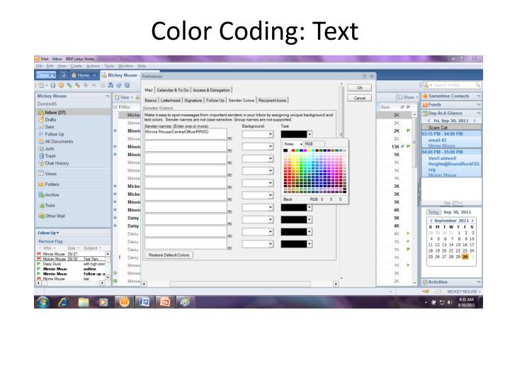 Color Coding: Text