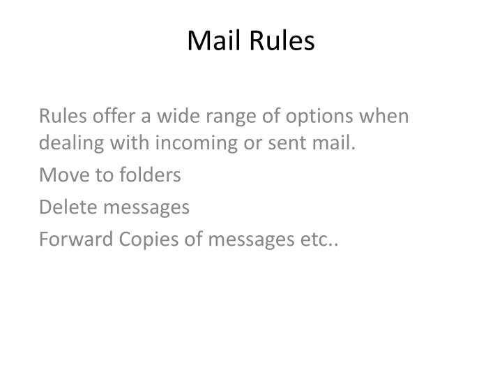 Mail Rules