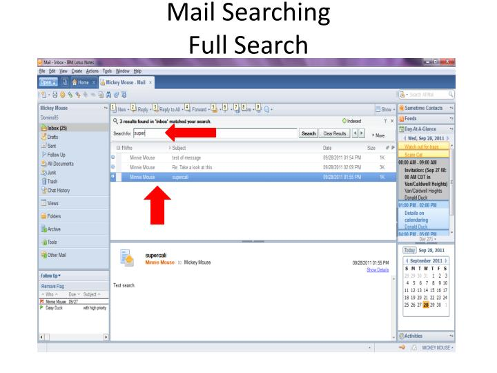 Mail Searching