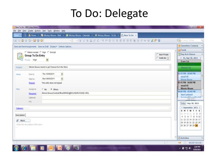 To Do: Delegate