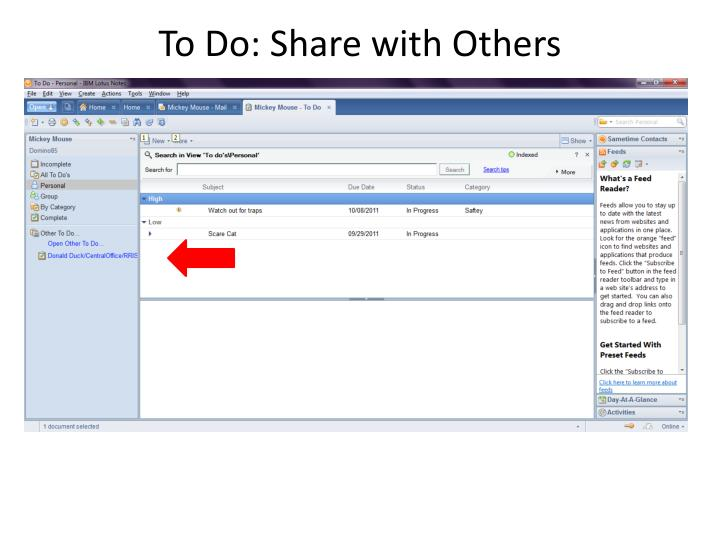 To Do: Share with Others