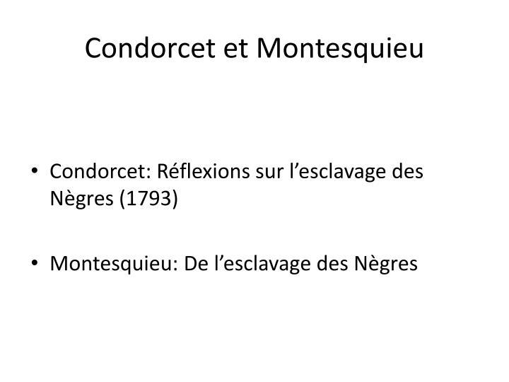 Condorcet et Montesquieu