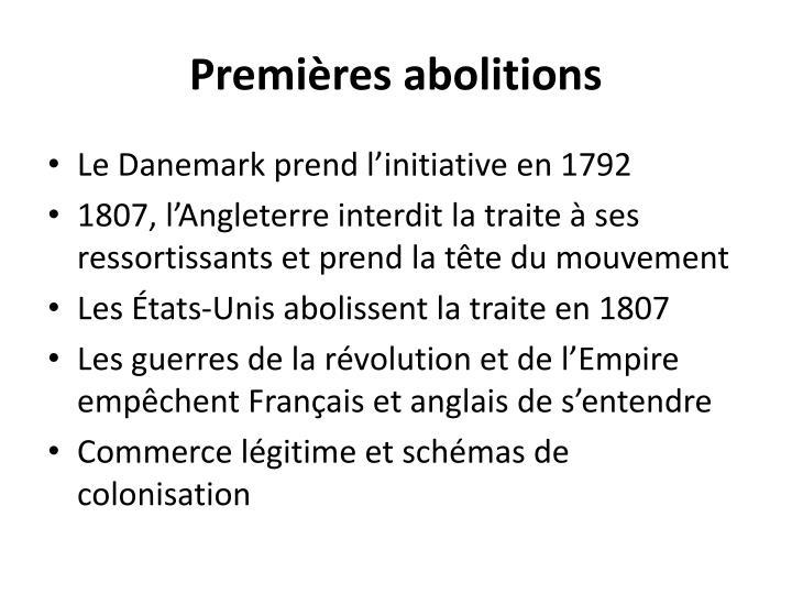 Premières abolitions