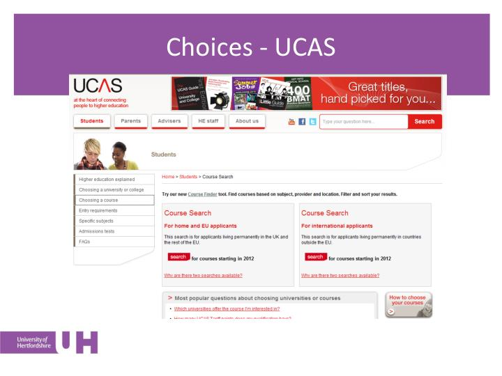 Choices - UCAS