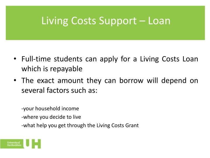 Living Costs Support – Loan