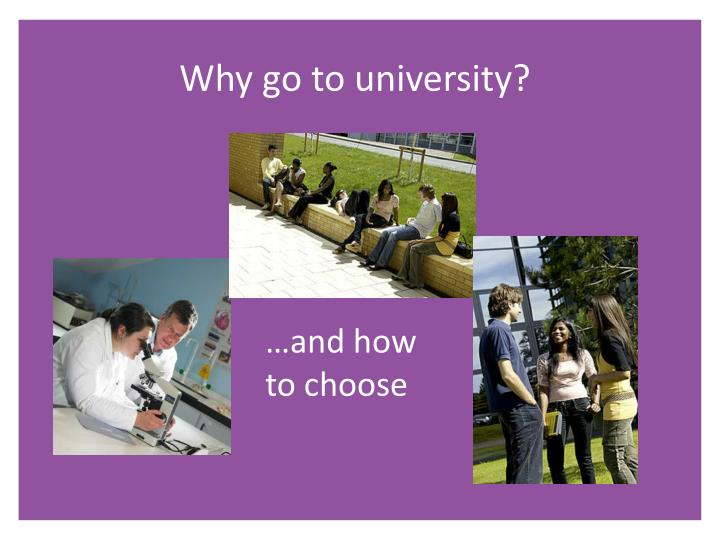 Why go to university