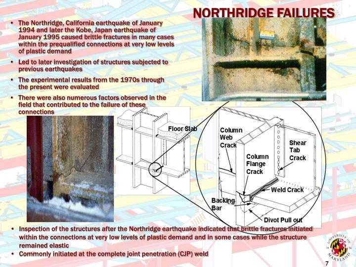 NORTHRIDGE FAILURES