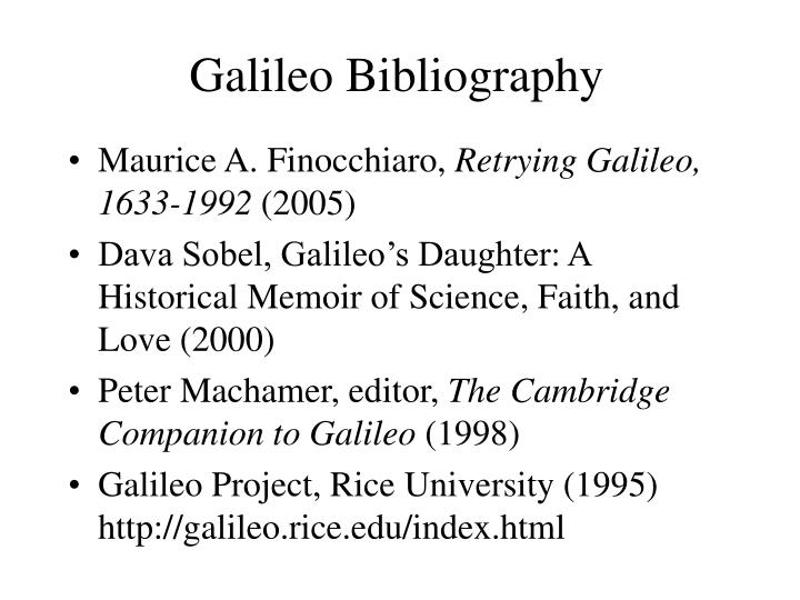 Galileo Bibliography